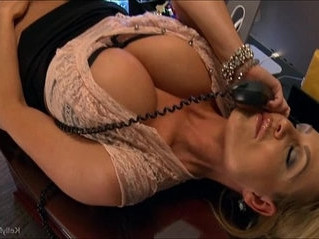 busty  cougar  office