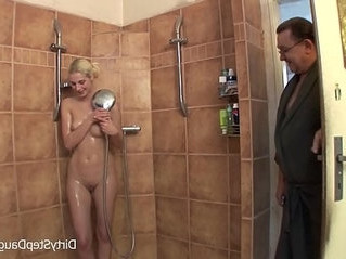 blonde   fuck   shower